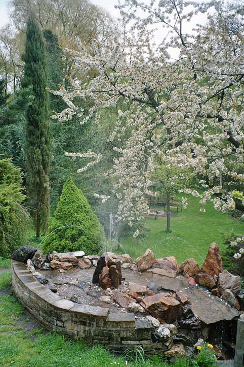 Springbrunnen Haus Friedland