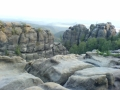Sandsteinfelsen mit Panoramablick