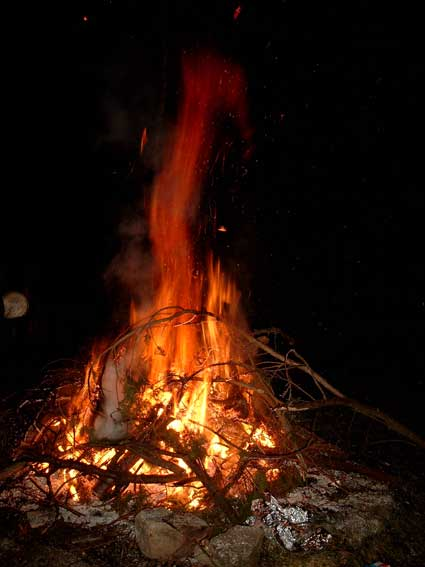 Lagerfeuer im Haus Friedland